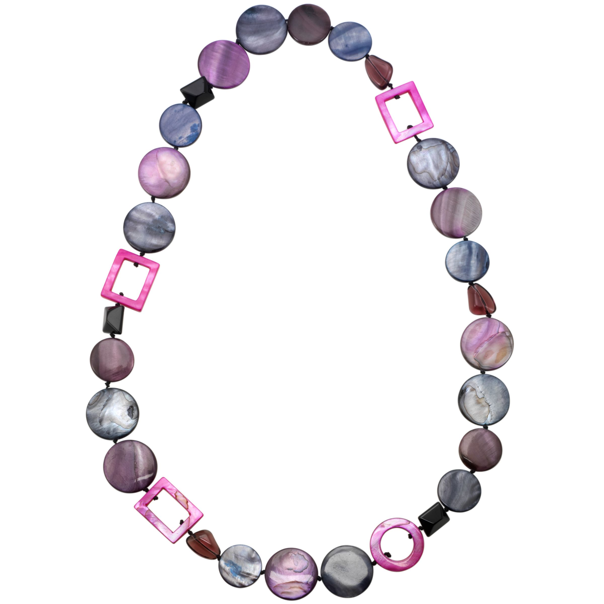 Gemstones, John Lewis Women Long Purple Mix Necklace