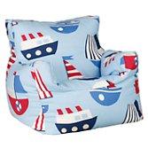 John Lewis Ships Sky Bean Chair Blue