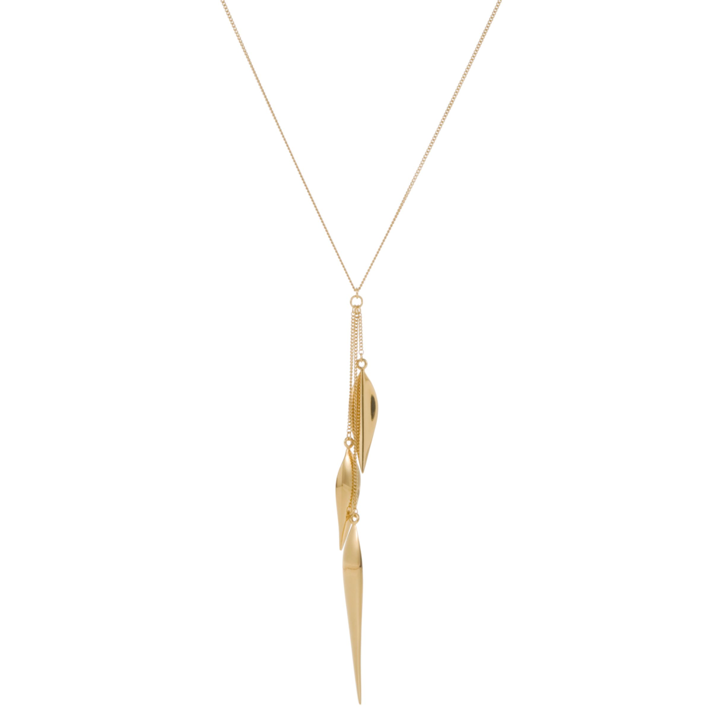 Dinny Hall Elongated Lotus Petal Gold Plated Necklace