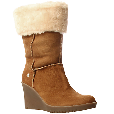 Buy Ugg Joslyn Wedge Heel Short Boots, Brown online at JohnLewis.com - John Lewis