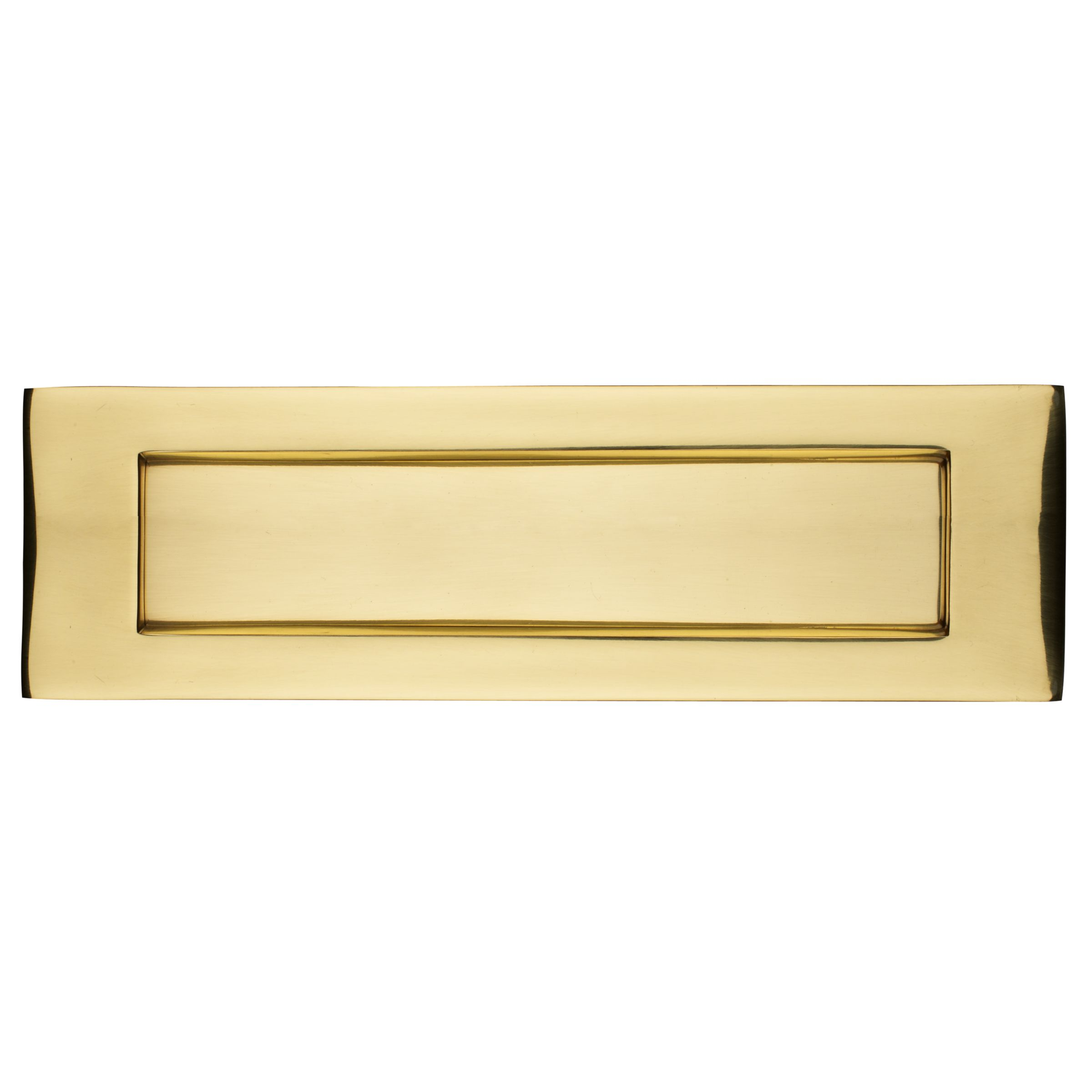 John Lewis Letterbox Plate, Polished Brass