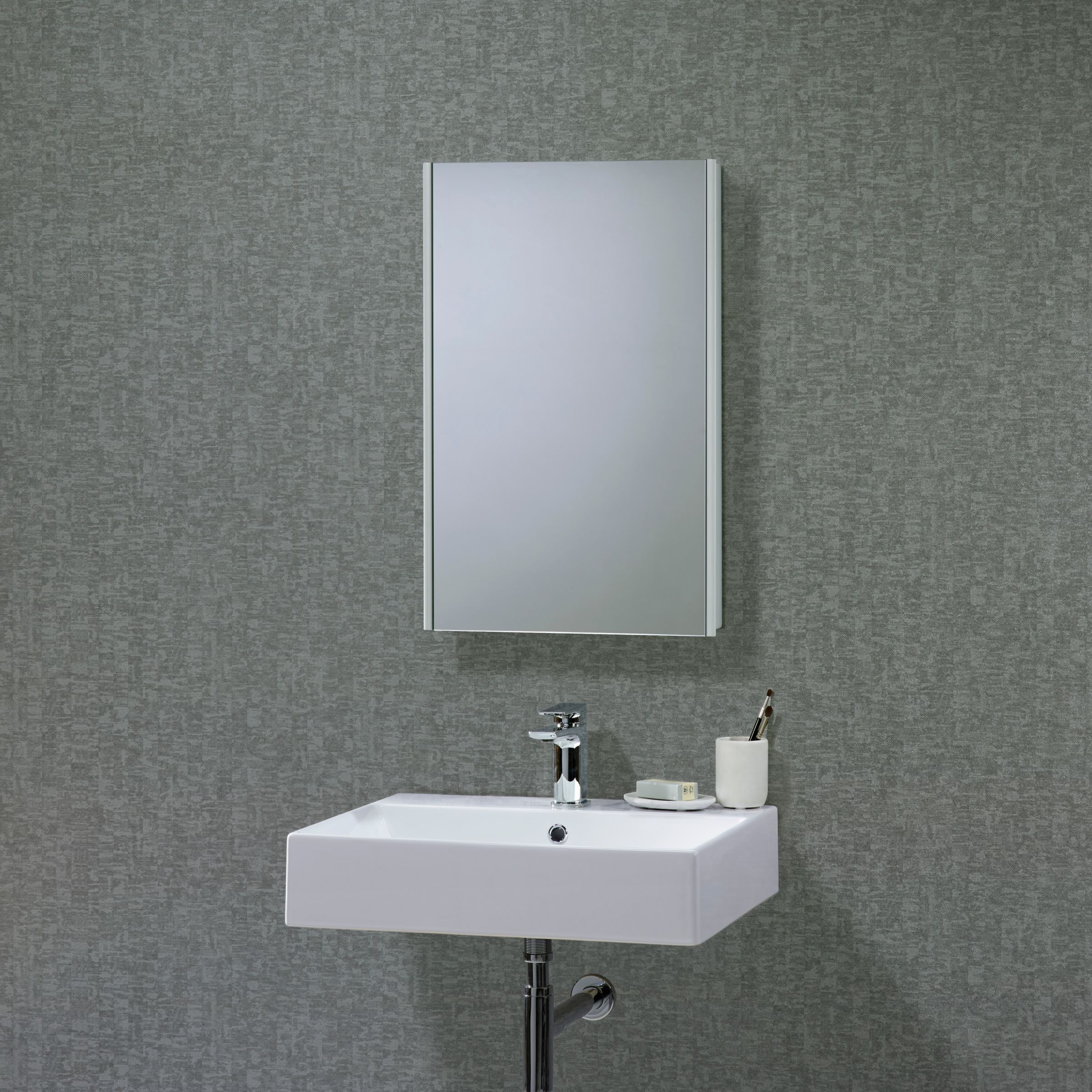 John Lewis Limit Slimline Single Door Bathroom Cabinet at John Lewis