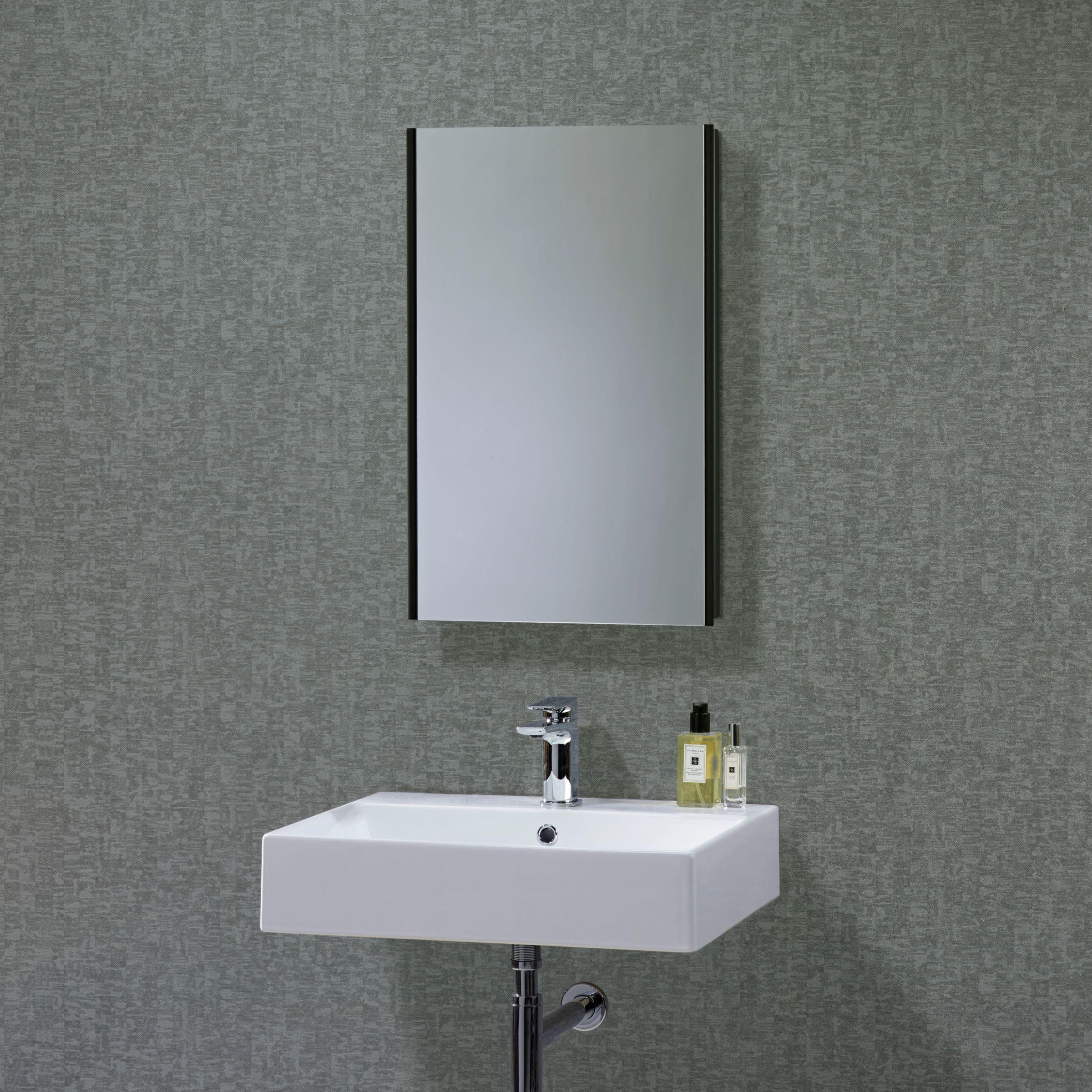 John Lewis Limit Slimline Single Door Bathroom Cabinet, Black at John Lewis