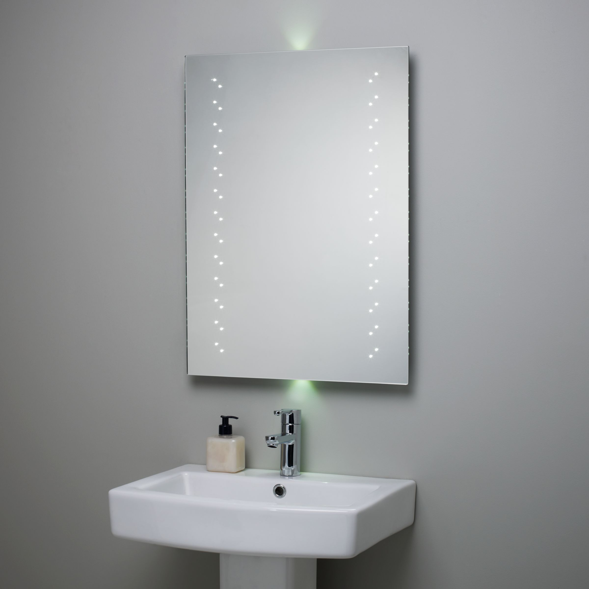Escape LED Bathroom Mirror with Ambi Lights at JohnLewis
