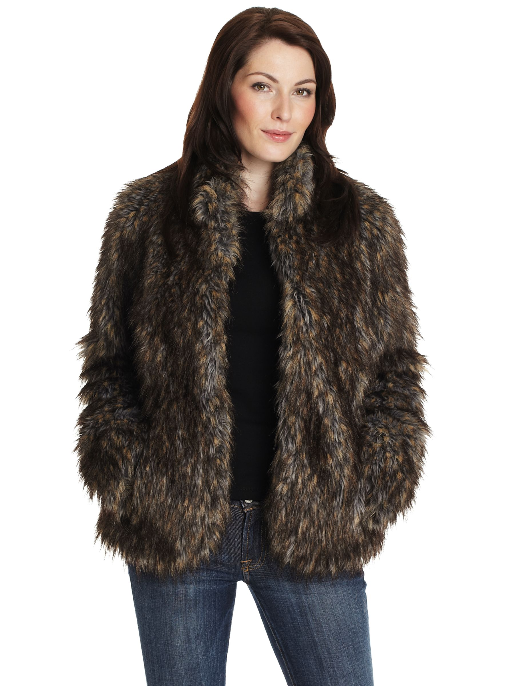 Four Seasons Fur Coat, Brown at John Lewis