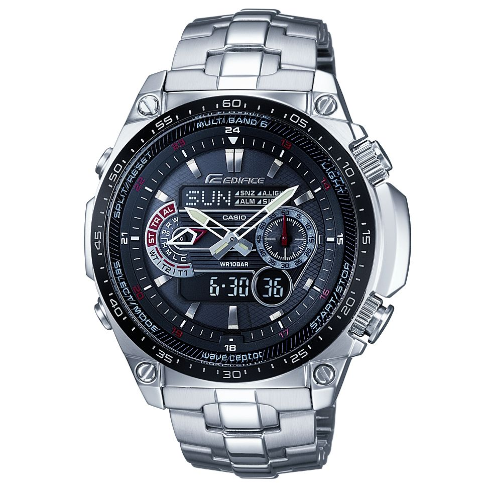 Casio EQW-M300EDB-1AER Edifice Wave Ceptor Chronograph Bracelet Watch