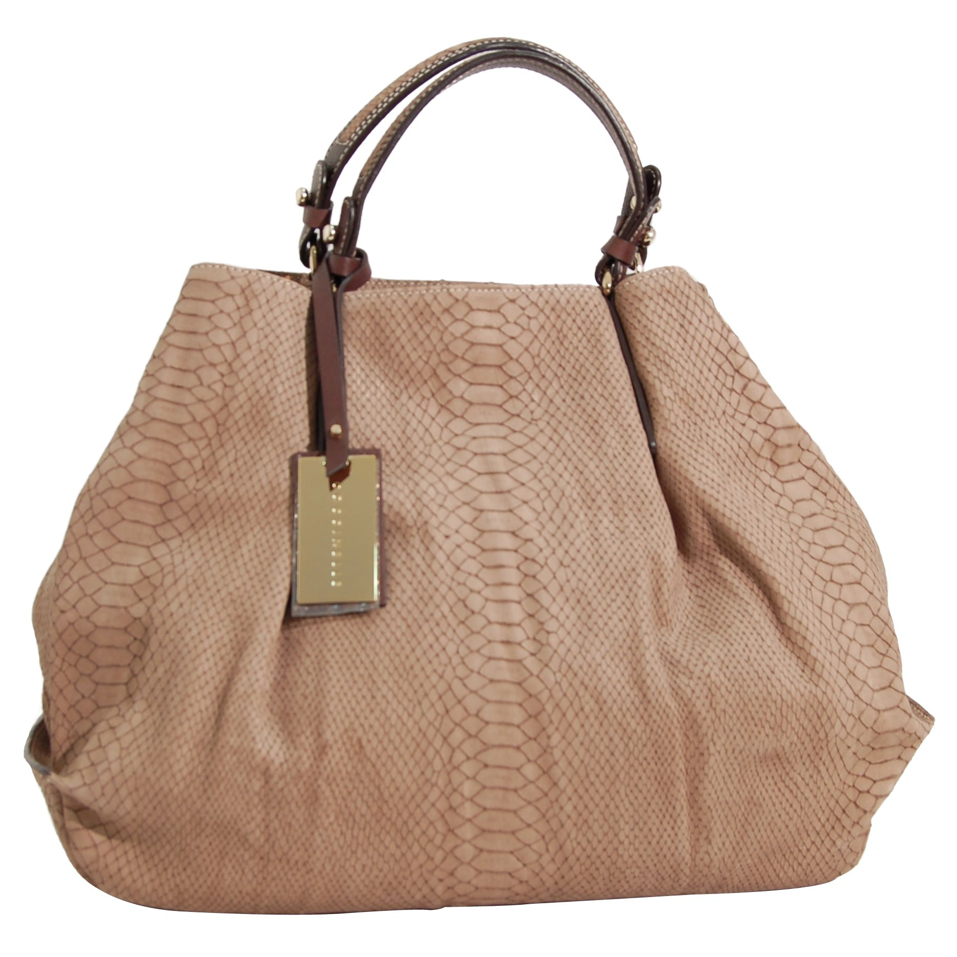 Coccinelle Esma Lux Large Tote Handbag, Beige at John Lewis