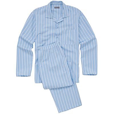 John Lewis Men Striped Pyjamas, Blue
