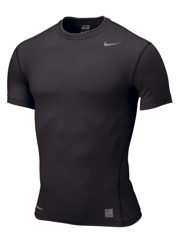 Nike Pro Core Tight Short Sleeve T-Shirt, Black