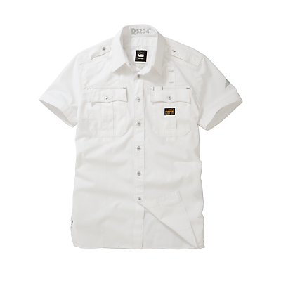G-Star Raw Tunnel Short Sleeve Military Shirt, White