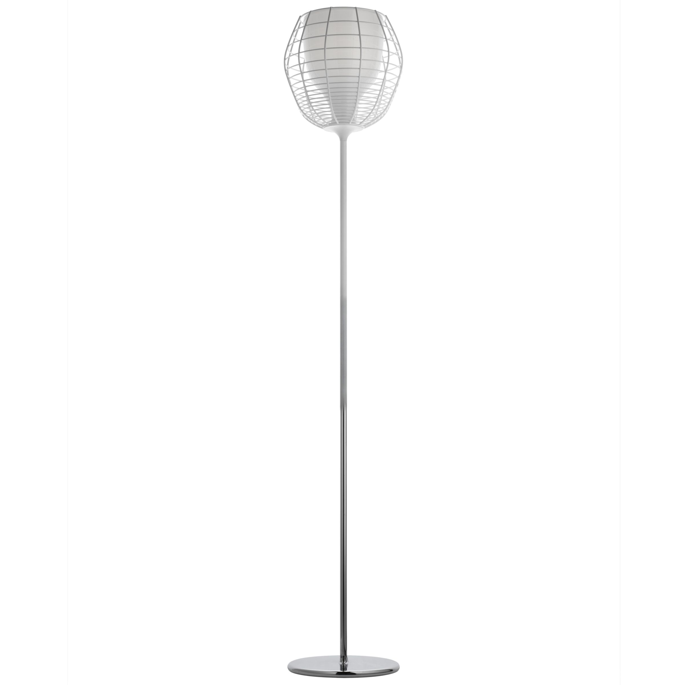 with Foscarini Cage Floor Lamp, White