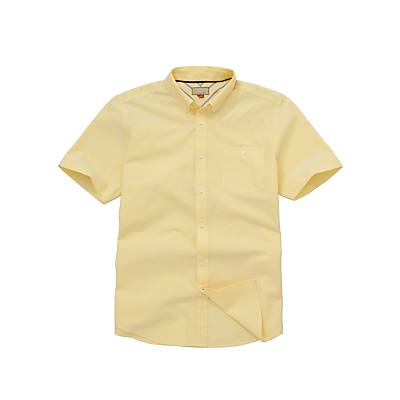 John Lewis Men Short Sleeve Oxford Shirt, Yellow