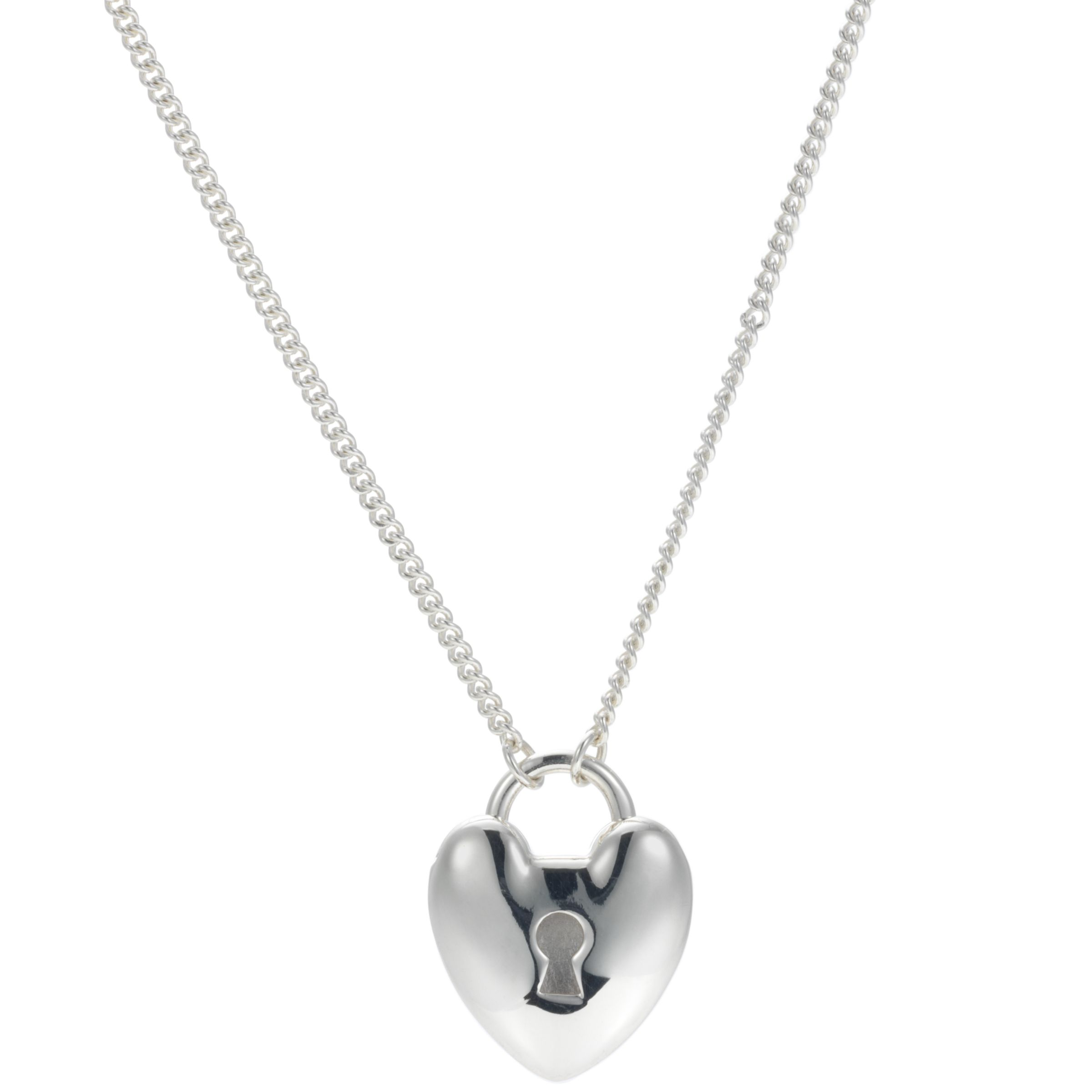 Dinny Hall Heart Padlock Pendant on Long Chain Pendant Necklace