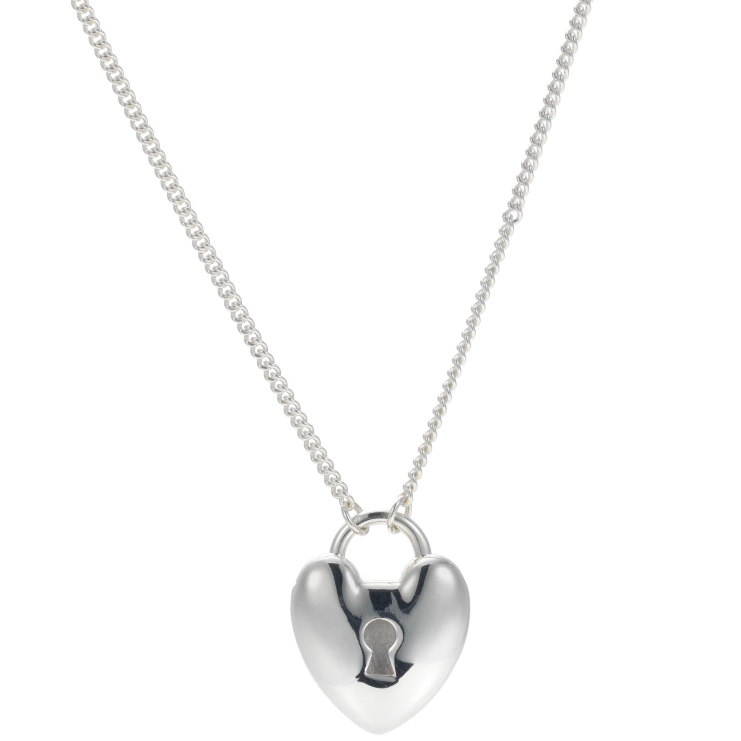 Dinny Hall Heart Padlock Pendant on Long Chain Pendant Necklace