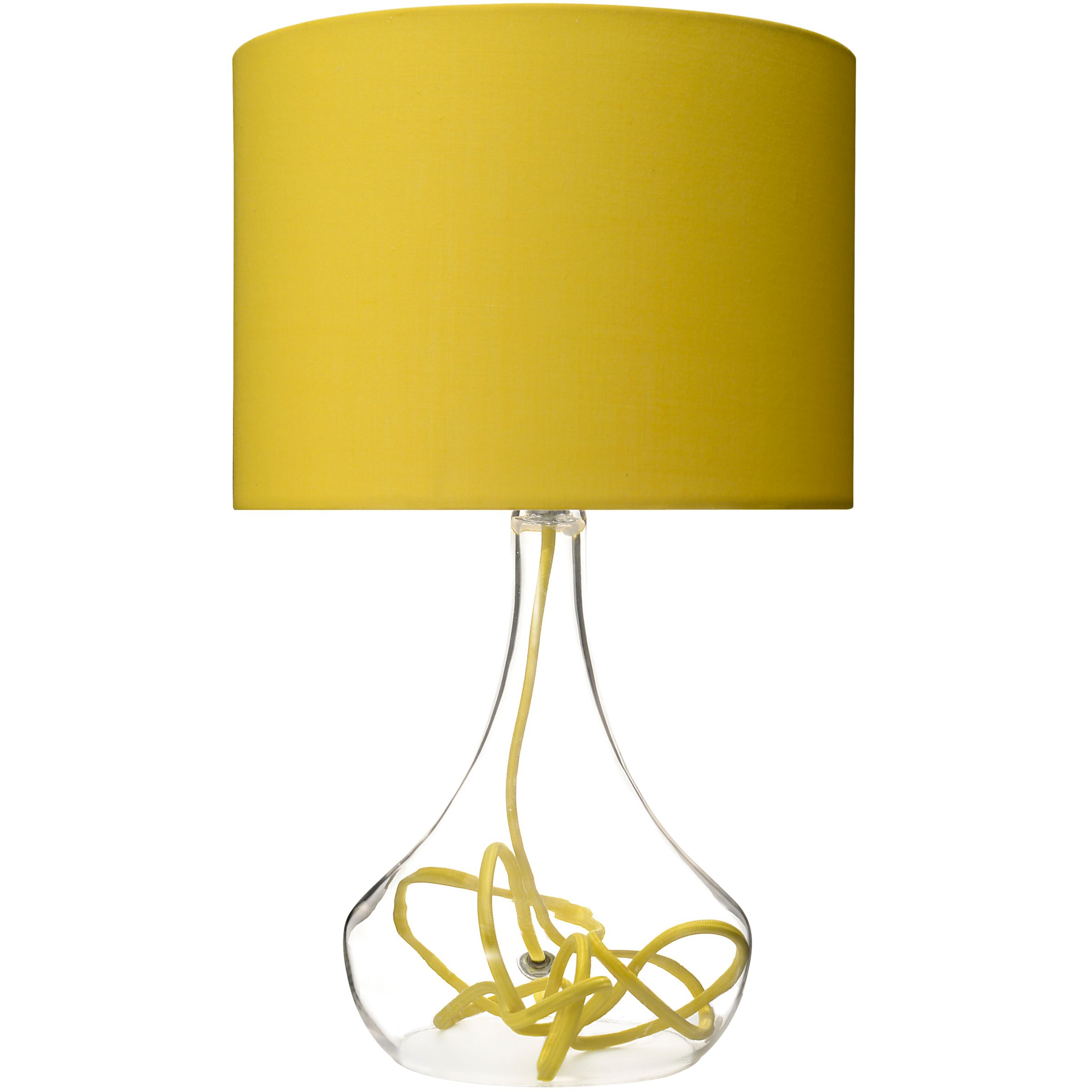 Yellow Glass Base Table Lamp Best Inspiration For Table Lamp