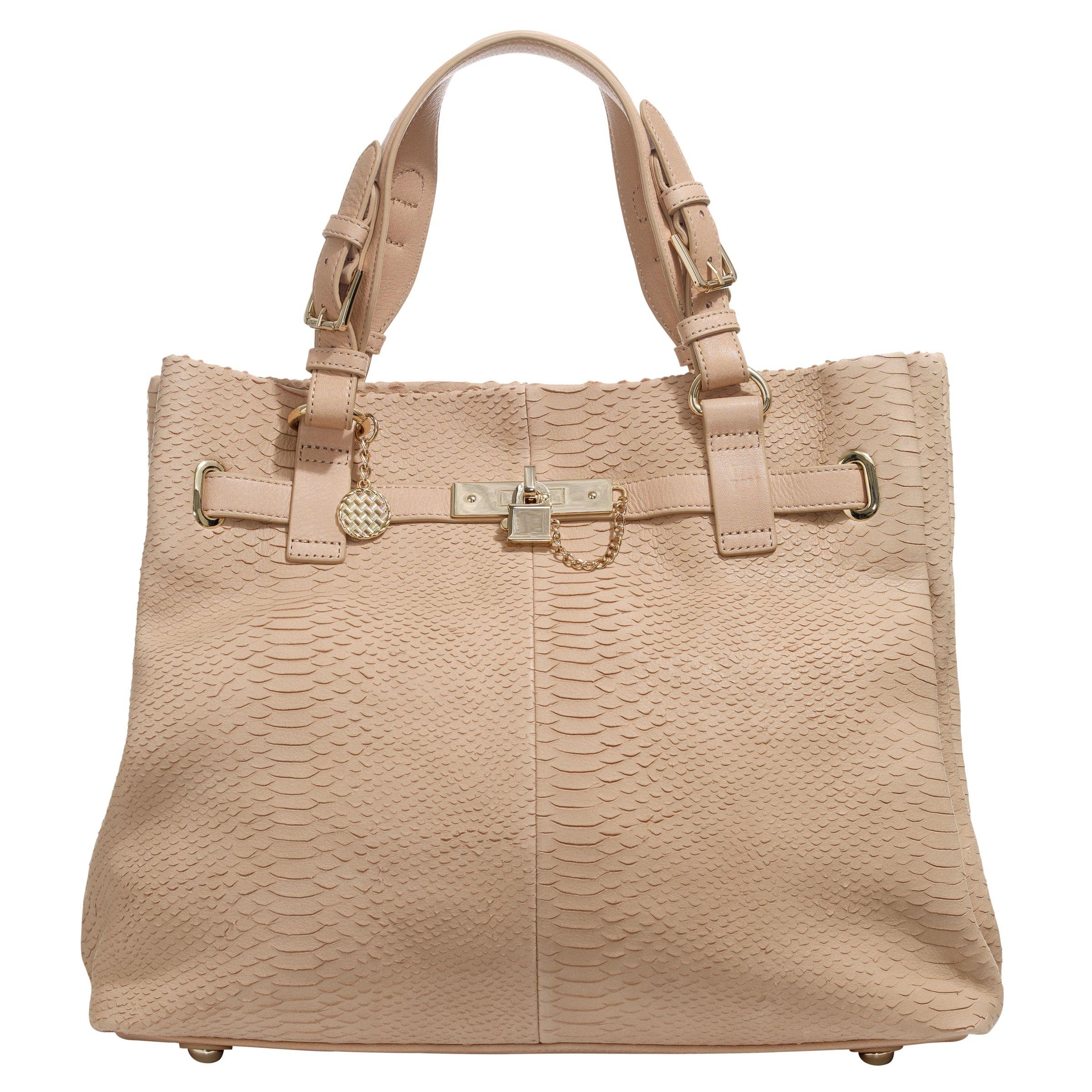 Reiss Bleeker Lock Detail Bag, Cinnamon at JohnLewis