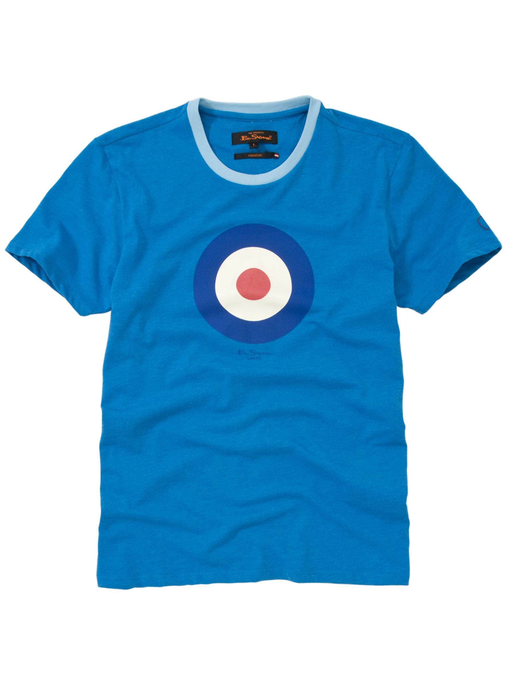 Throne Target Print T-Shirt, Blue