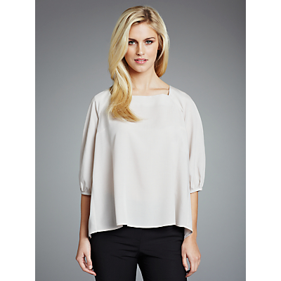 Paul Costelloe Pleat Back Bracelet Blouse, Putty