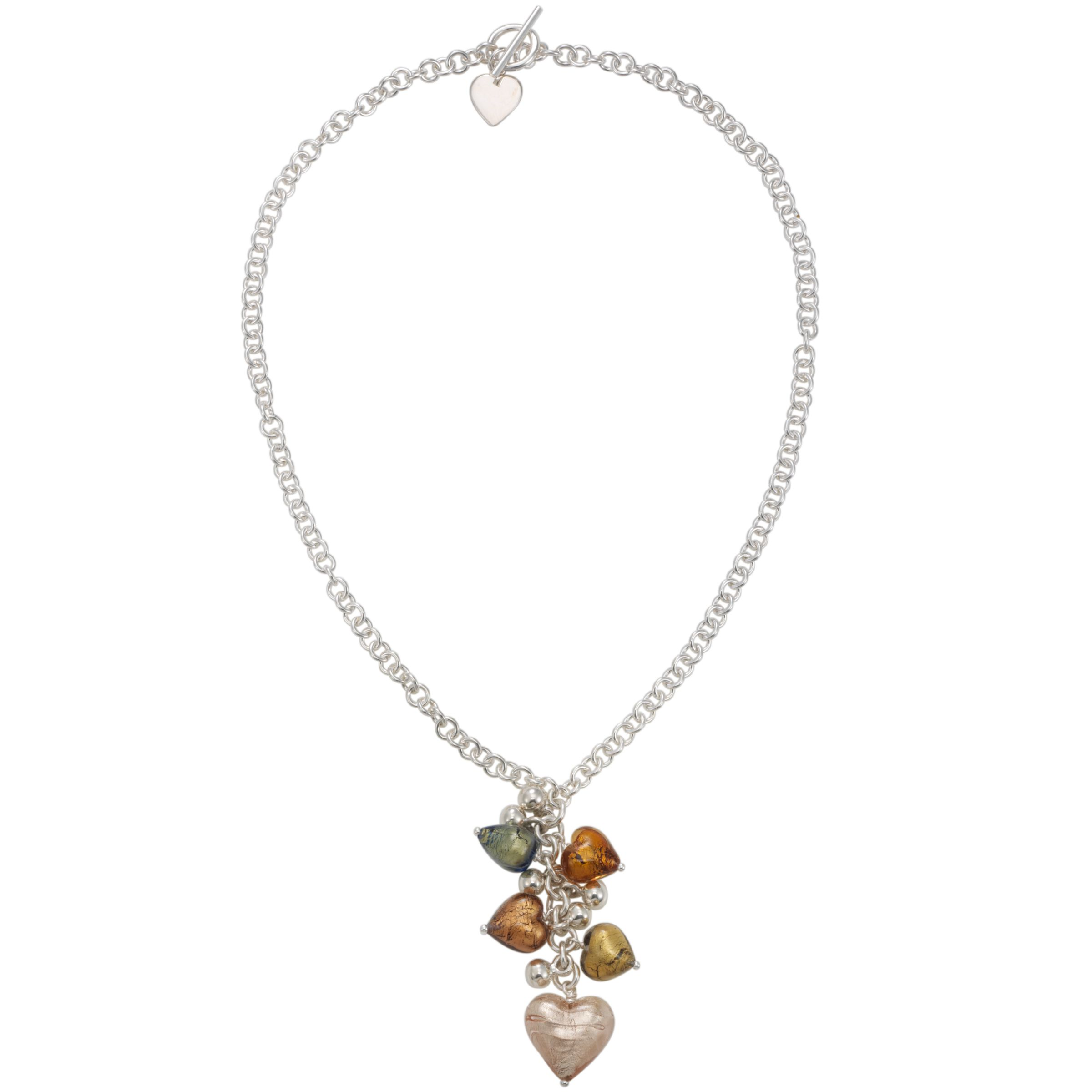 Martick Autumn Murano Glass Heart Necklace