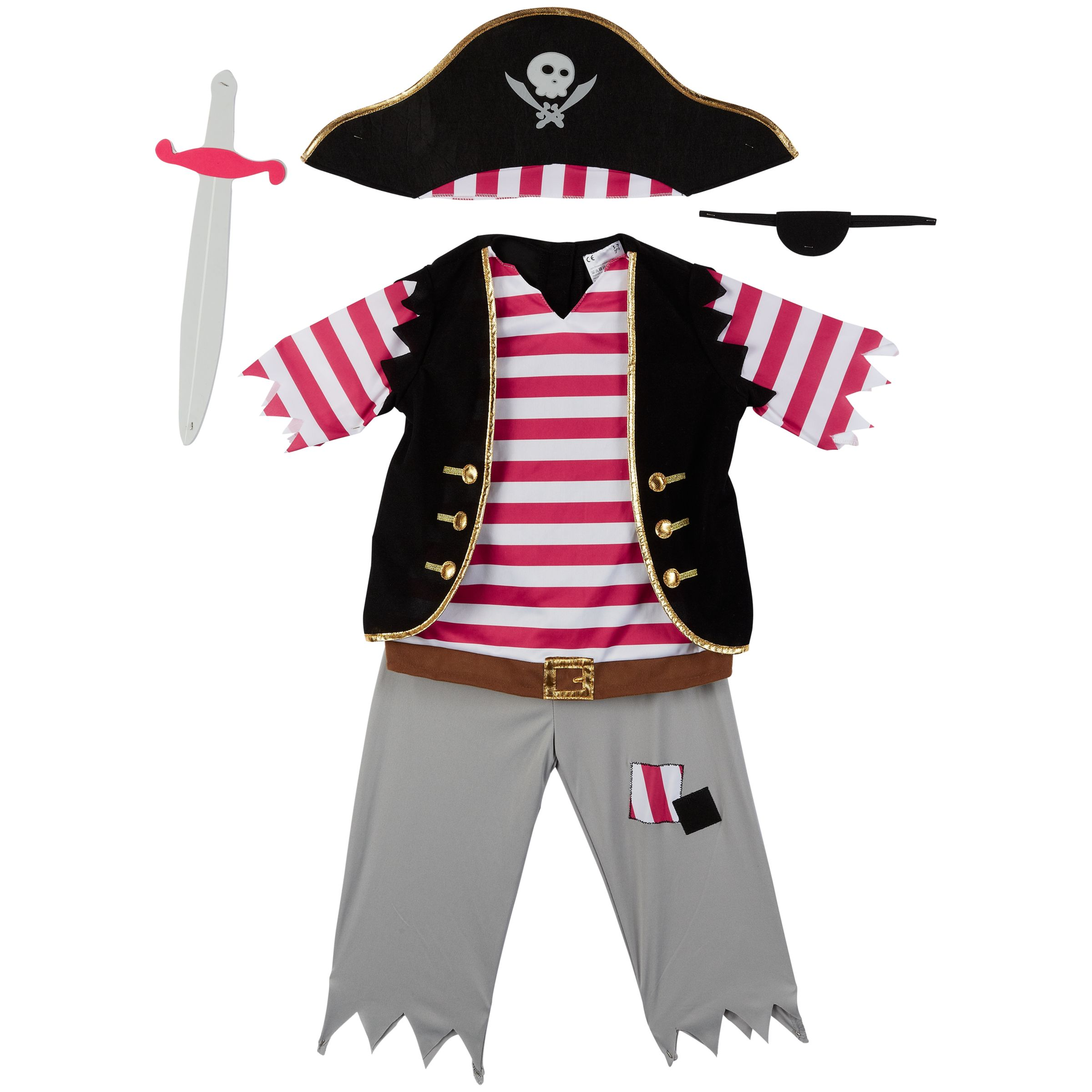 John Lewis Pirate Dressing-Up Outfit