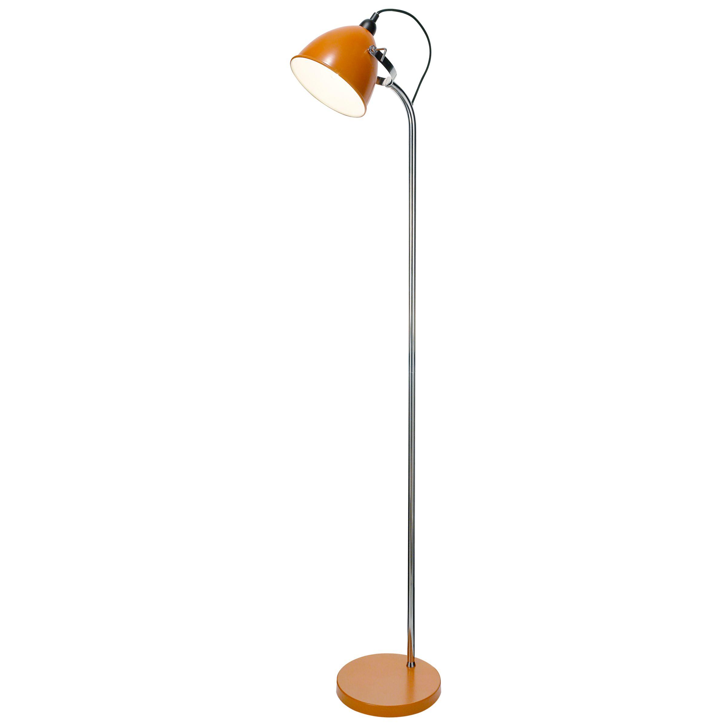 John lewis rochelle floor lamp orange review compare for Orange metal floor lamp