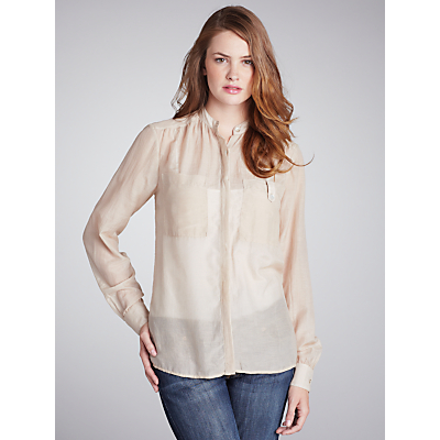 People Tree Silk Blouse, Beige