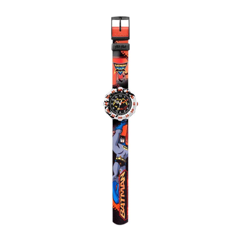 Flik Flak Fls013 Batman The Brave Round Dial Plastic Strap Watch