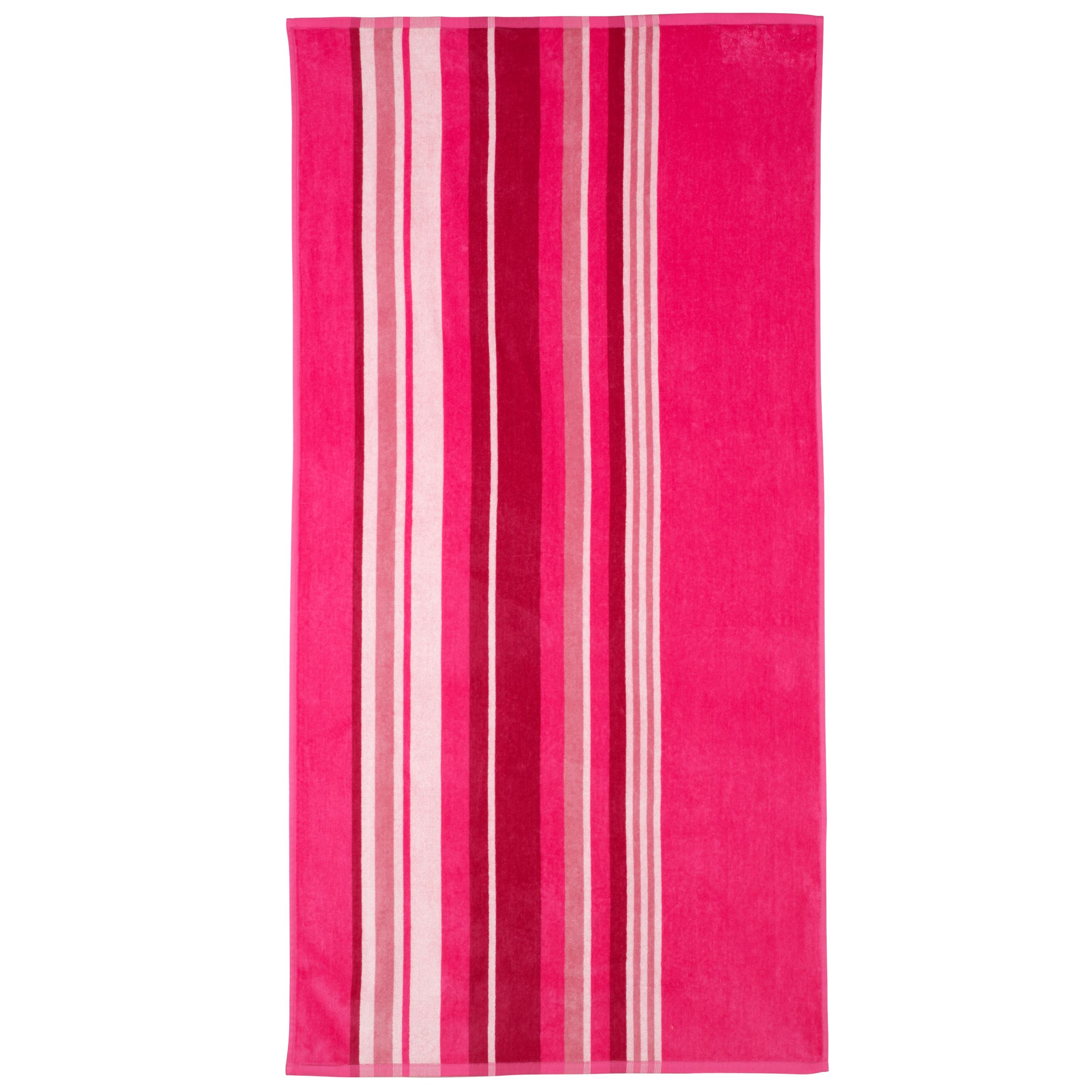 John Lewis Pink Stripe Beach Towel