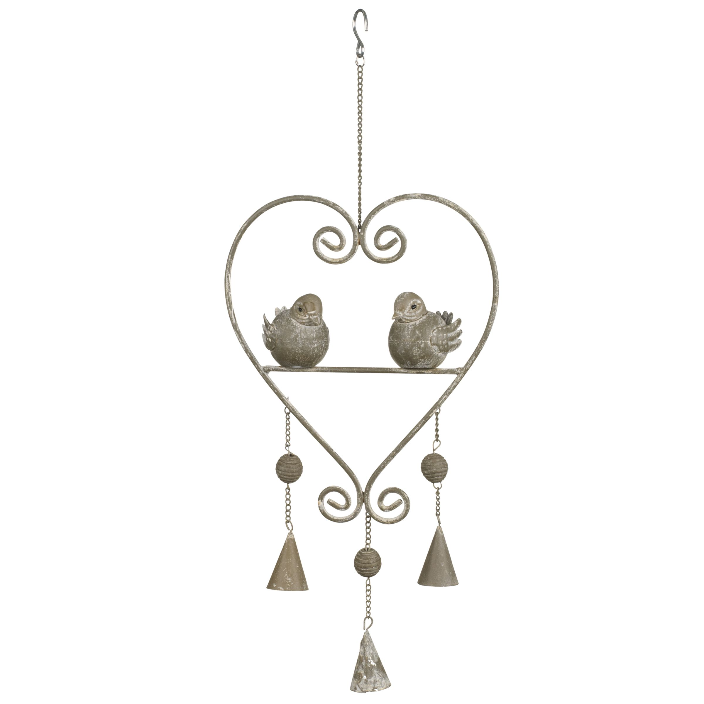 John Lewis Metal Heart Garden Decoration