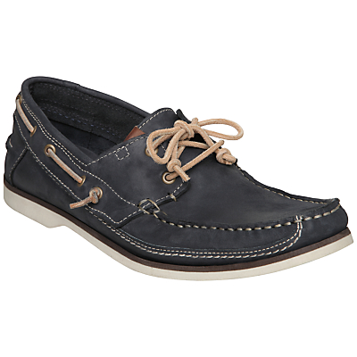 Bertie Louis Two Tone Leather Boat Shoes, Navy