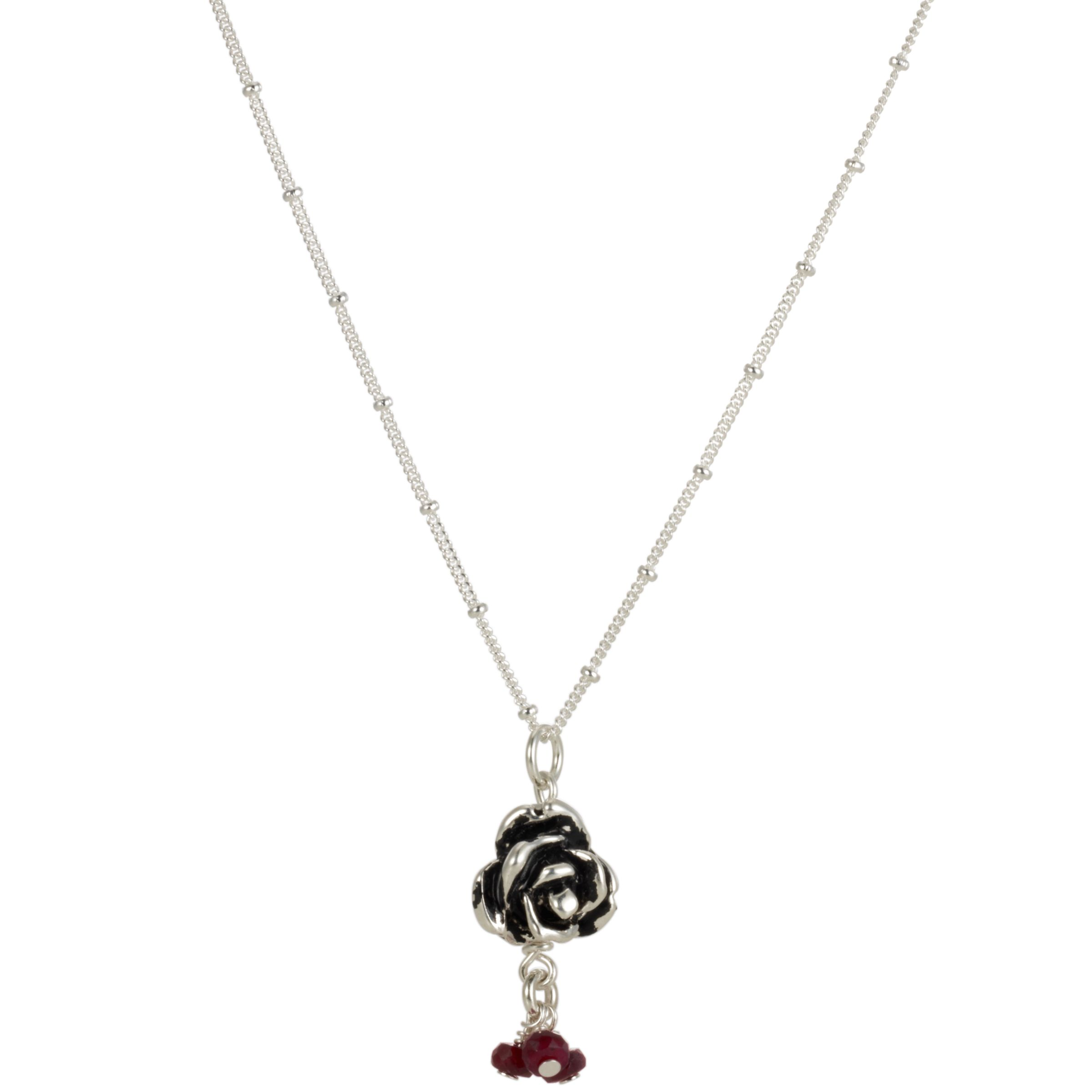 Martick Ruby Rose Pendant Necklace