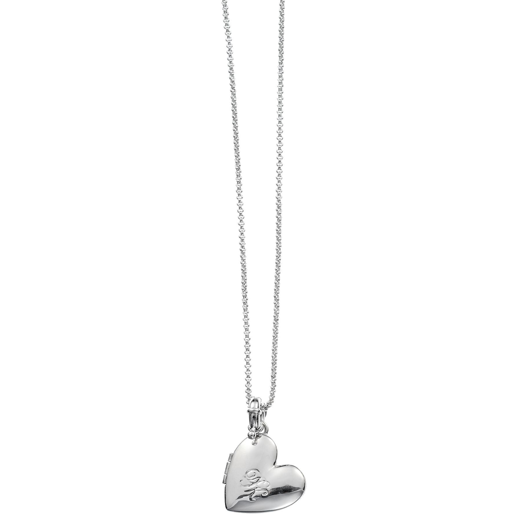 Dyrberg/Kern Caress Silver Shiny Heart Locket Necklace