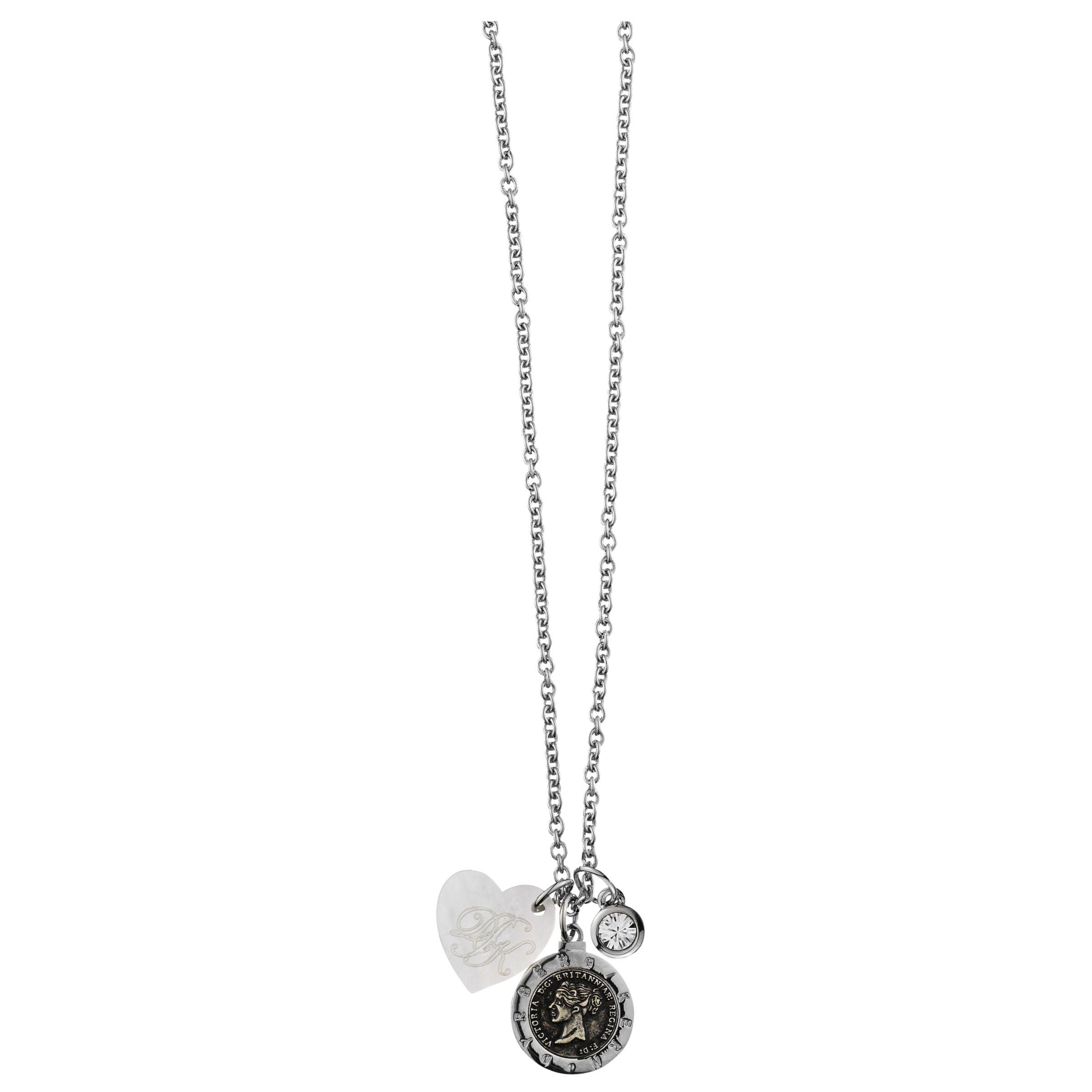 Dyrberg/Kern Constancia Silver Crystal Necklace