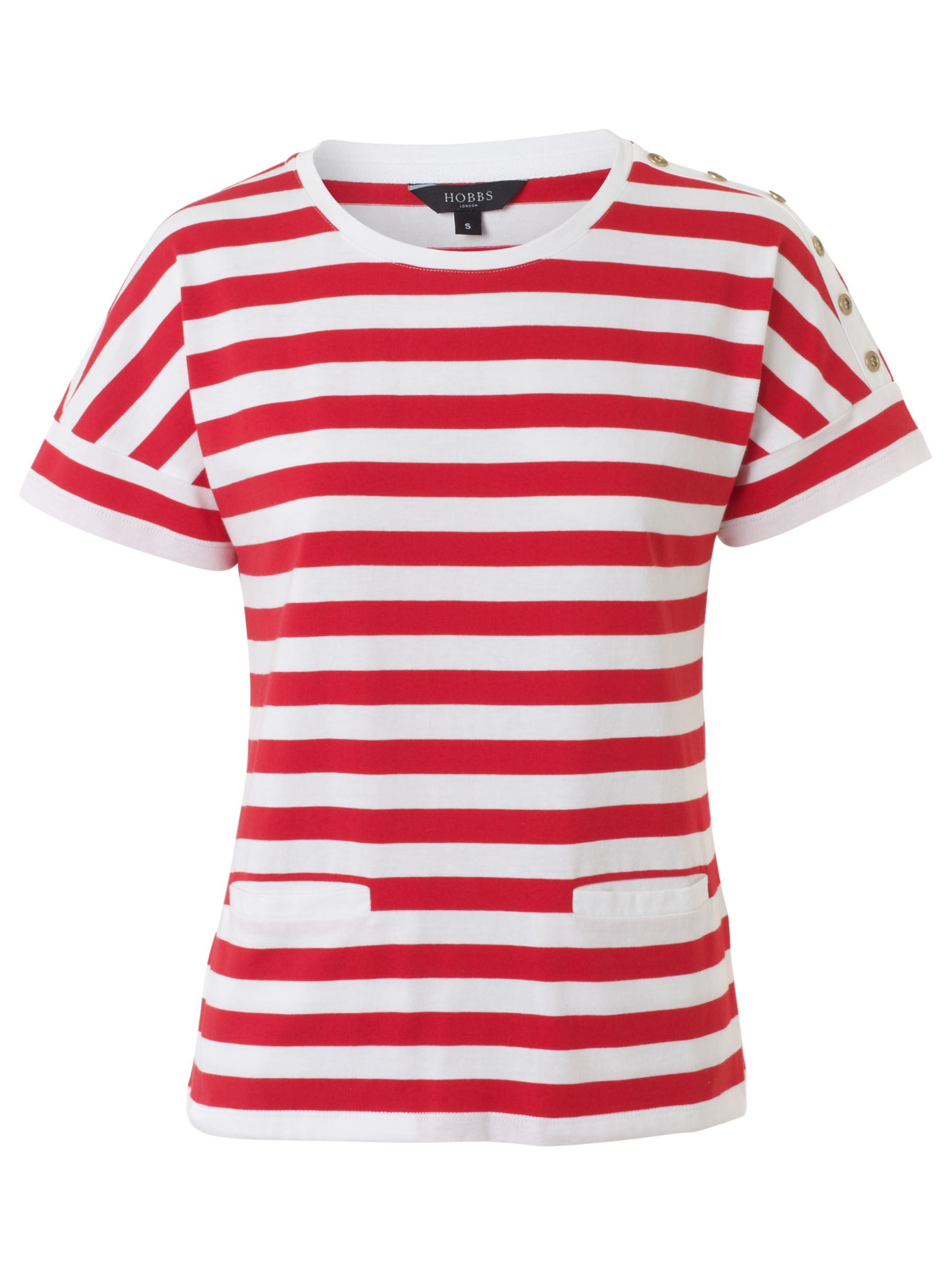 Sal T-Shirt, Cherry/White
