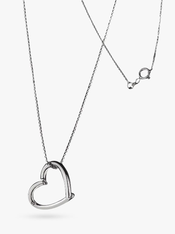 Hot Diamonds Just Add Love Open Heart Pendant Necklace