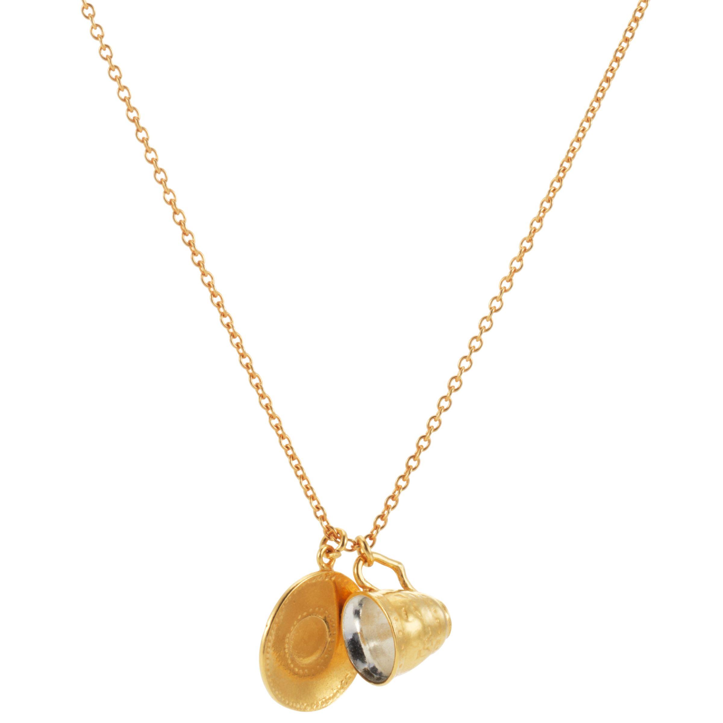 Alex Monroe for John Lewis Tea Cup Necklace