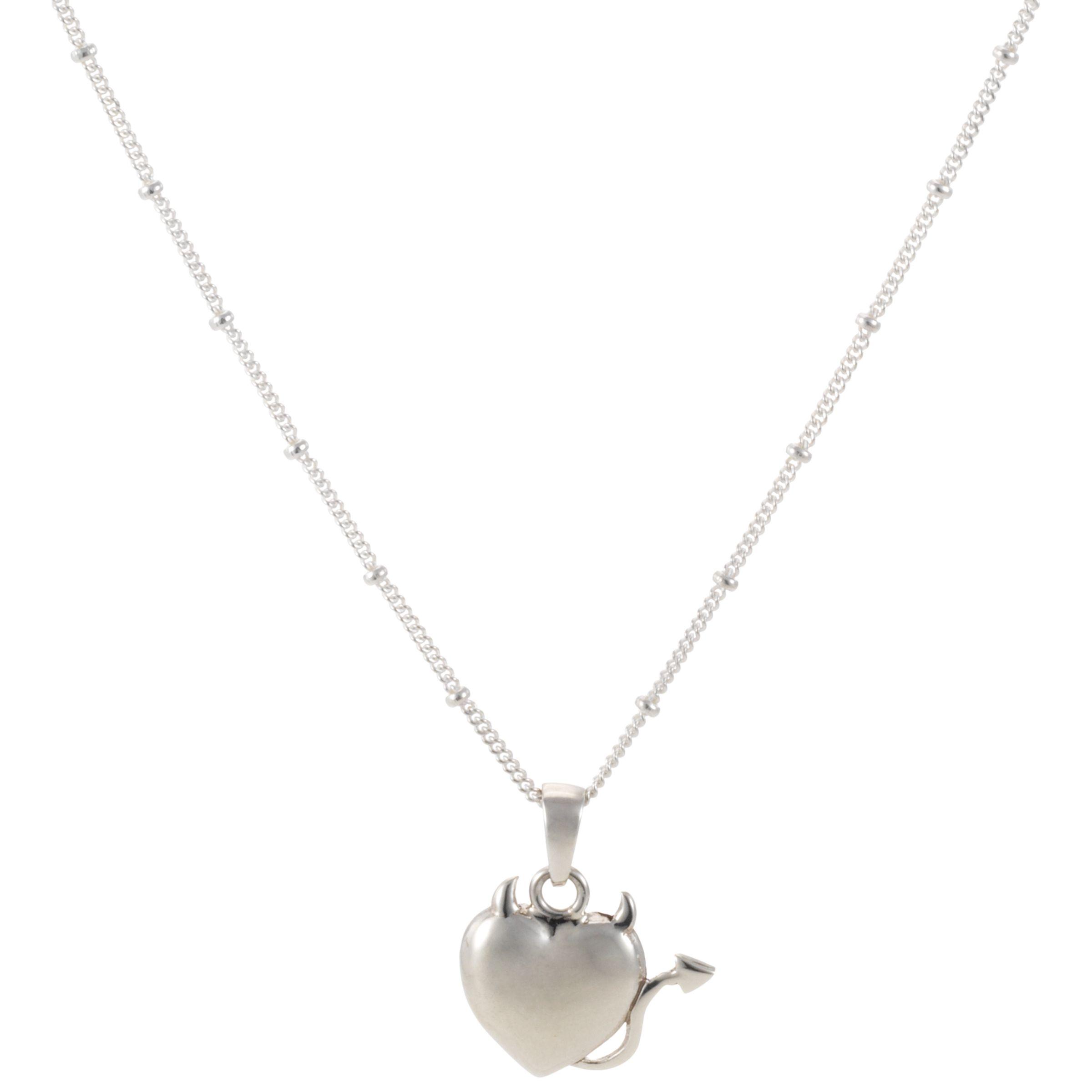 Martick Temptation Silver Heart Pendant Necklace