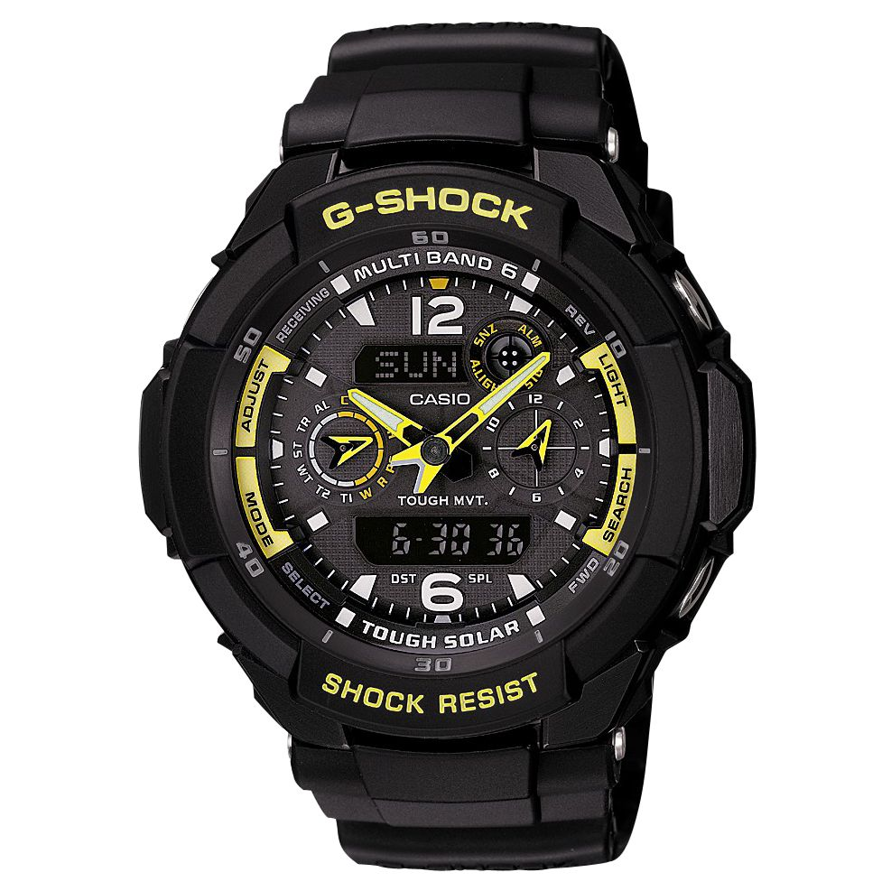 Casio G-shock St GW-3500B-1AER Men's Aviation Mutli-Mission Strap Watch, Black