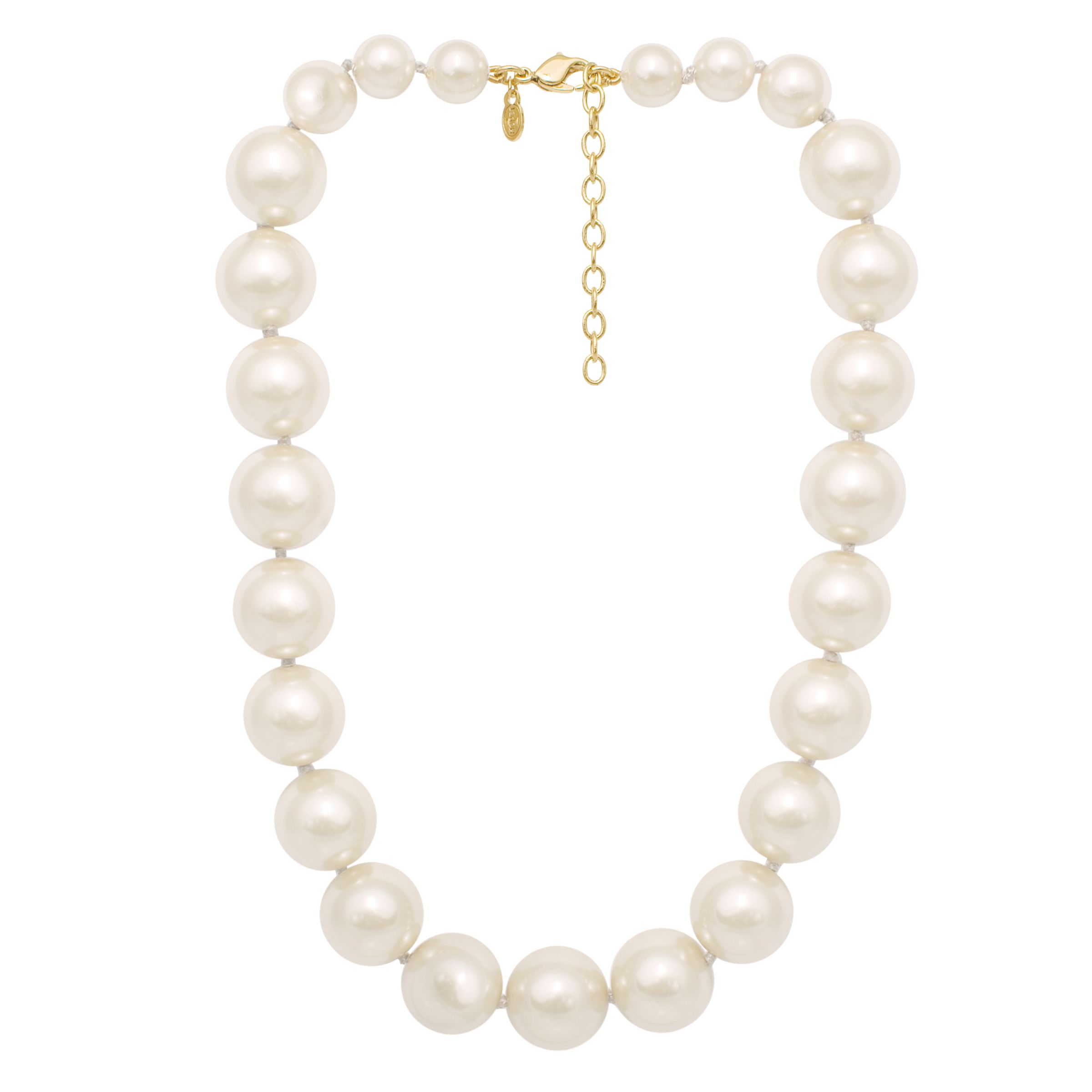 Monet Graduated Glass Pearl Necklace