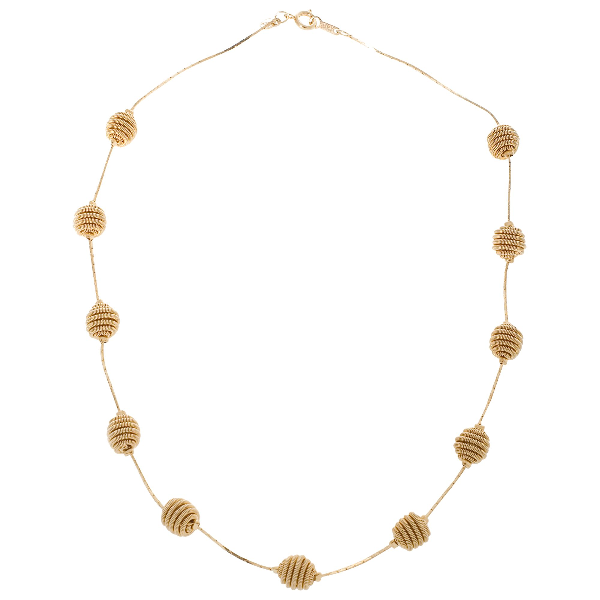 Monet Juted Gold Plated Necklace