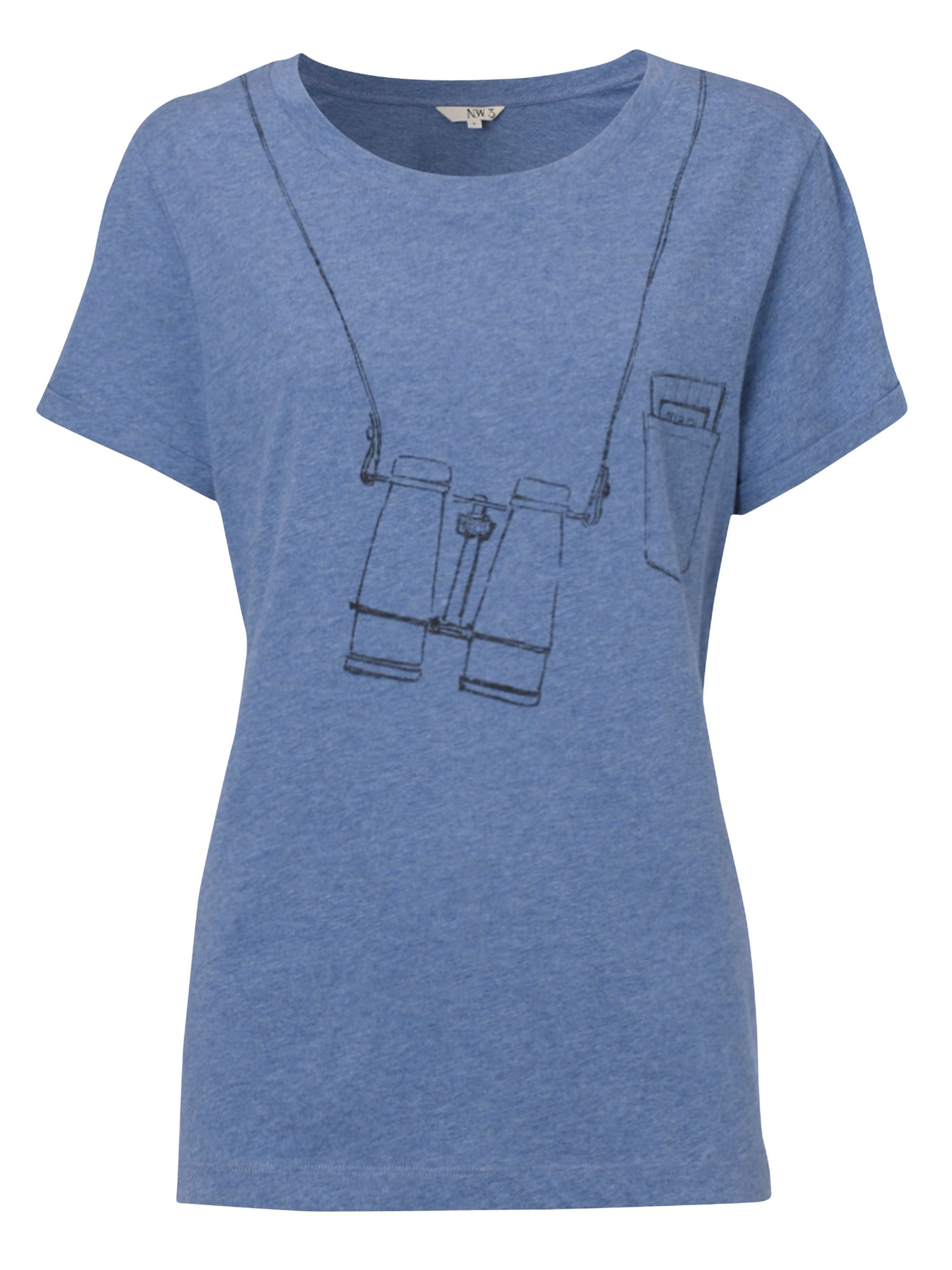 Birdwatcher Cotton T-Shirt, Poseidon Blue