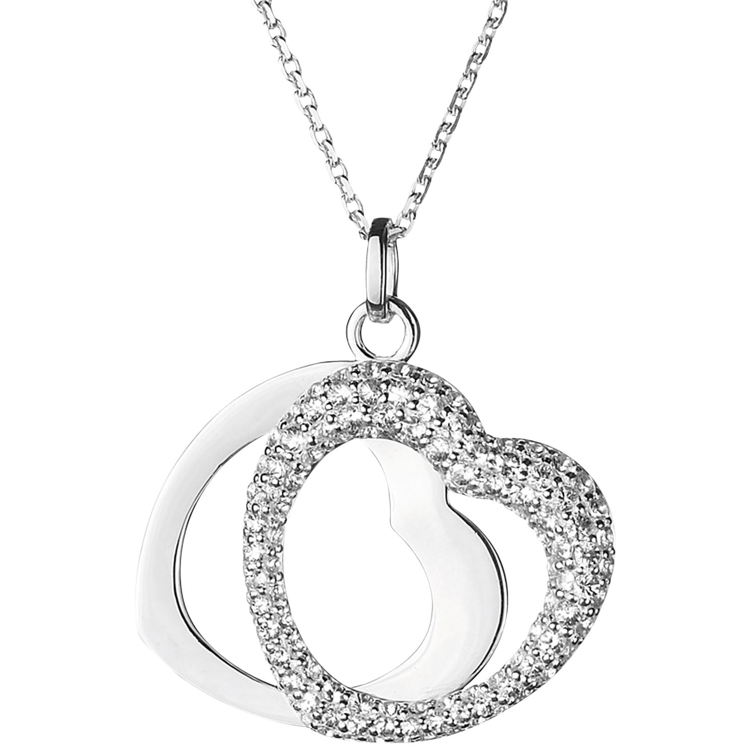 Links of London Love Note White Sapphire Pendant Necklace