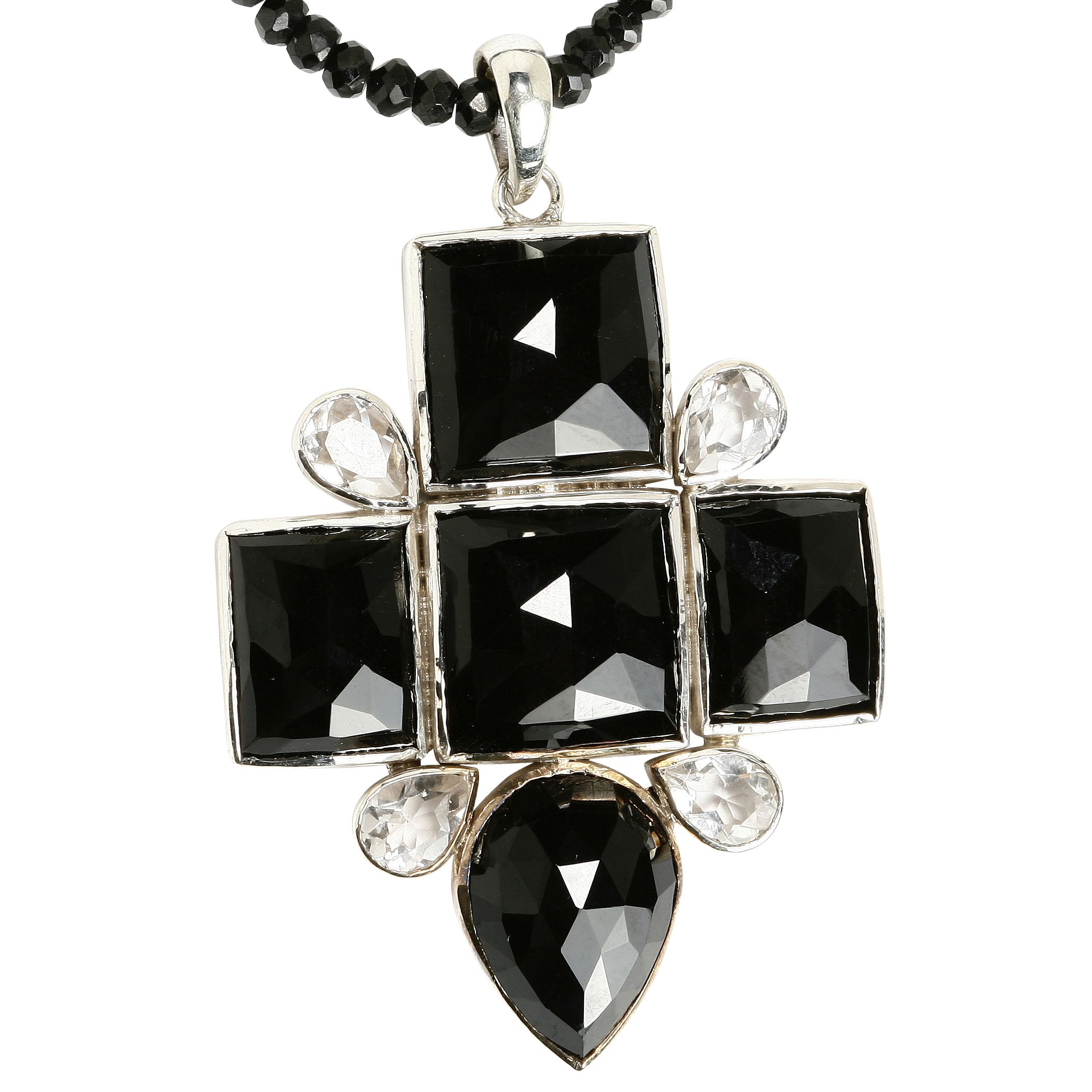 Emma Chapman Babylon Black Onyx Cross Necklace