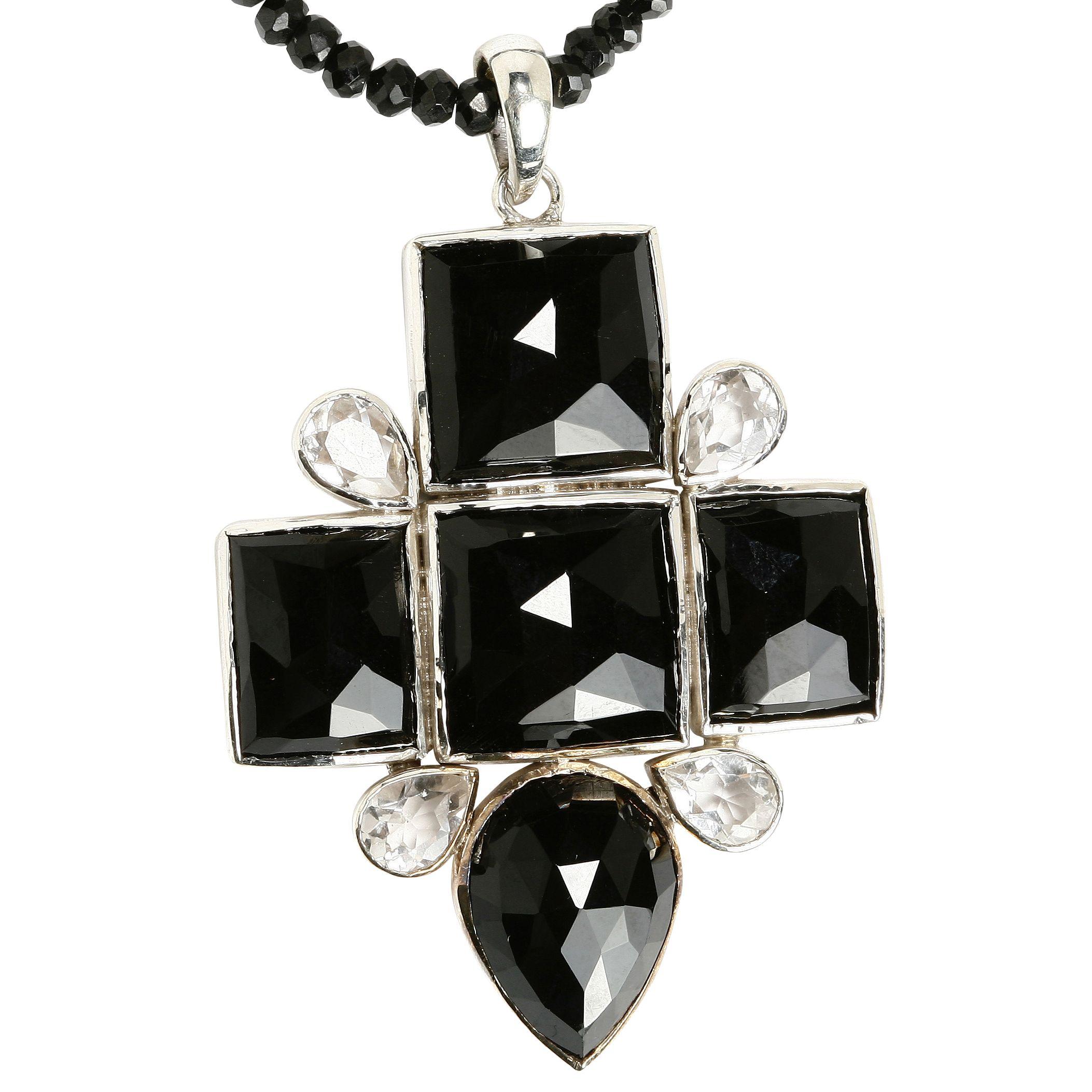 Emma Chapman Babylon Black Onyx Cross Necklace