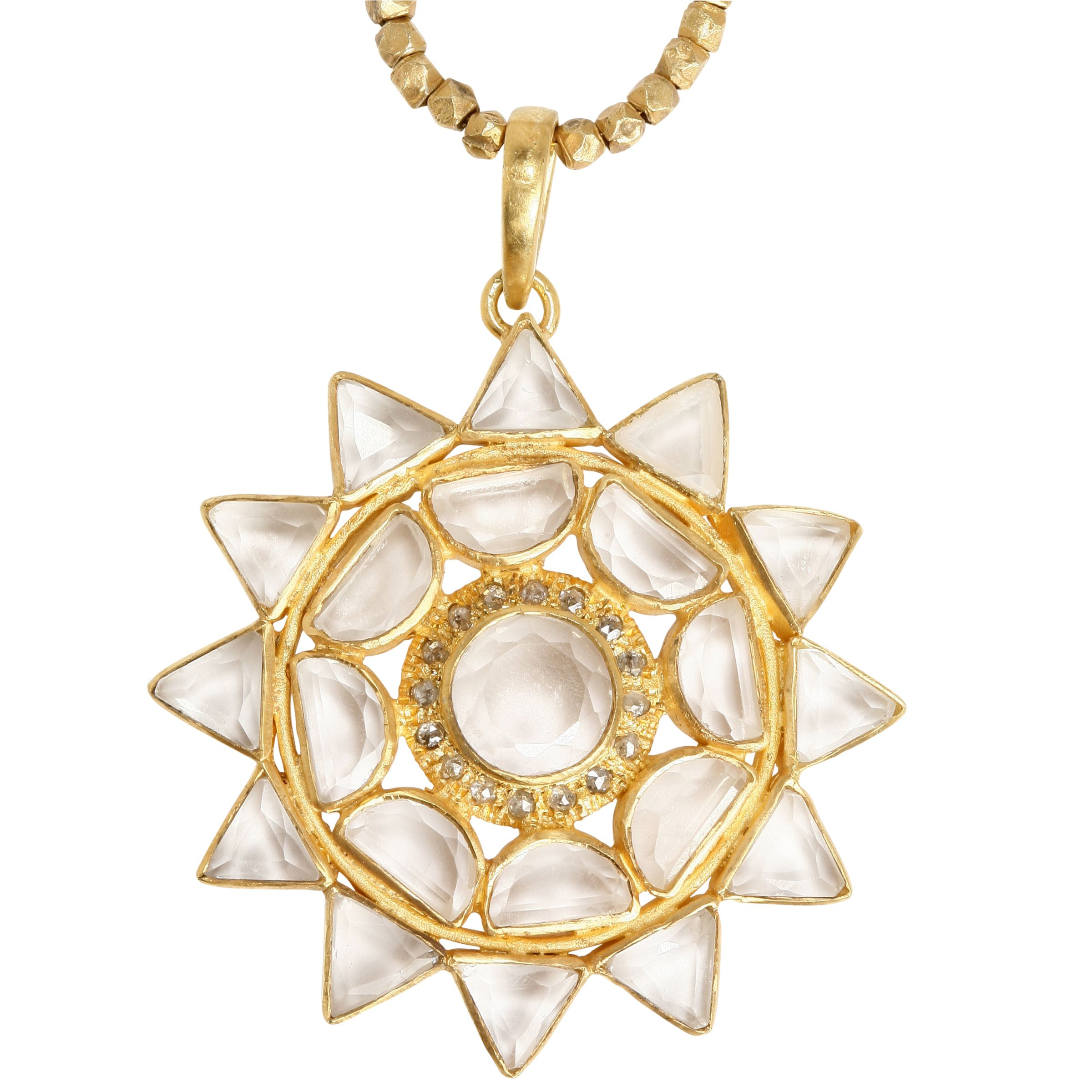 Emma Chapman Gold Lakshmi Pendant Necklace