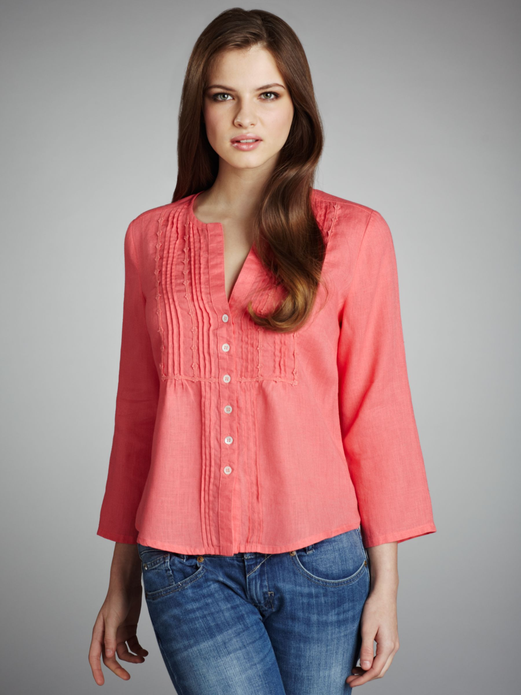 Crochet Trim Blouse, Dahlia