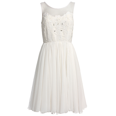 Kate's White Reiss Dress at Epsom
