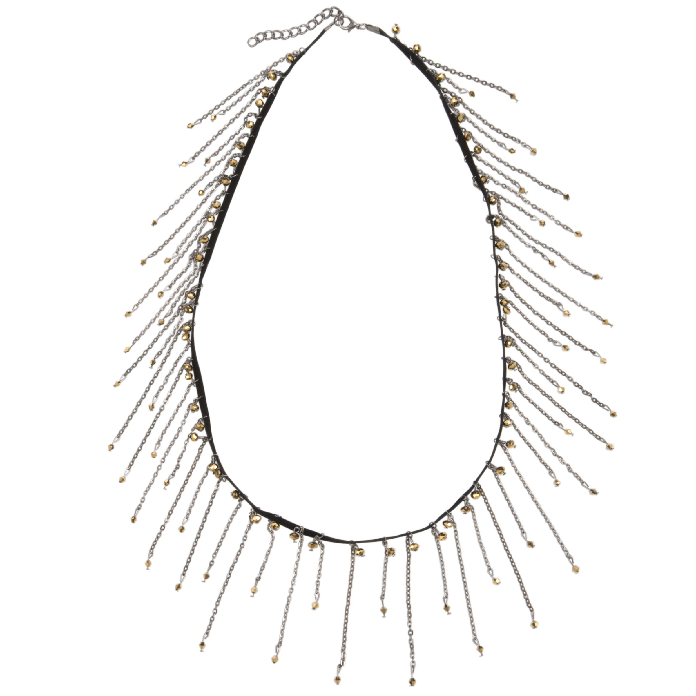 Adele Marie Leather, Tassle and Bead Necklace