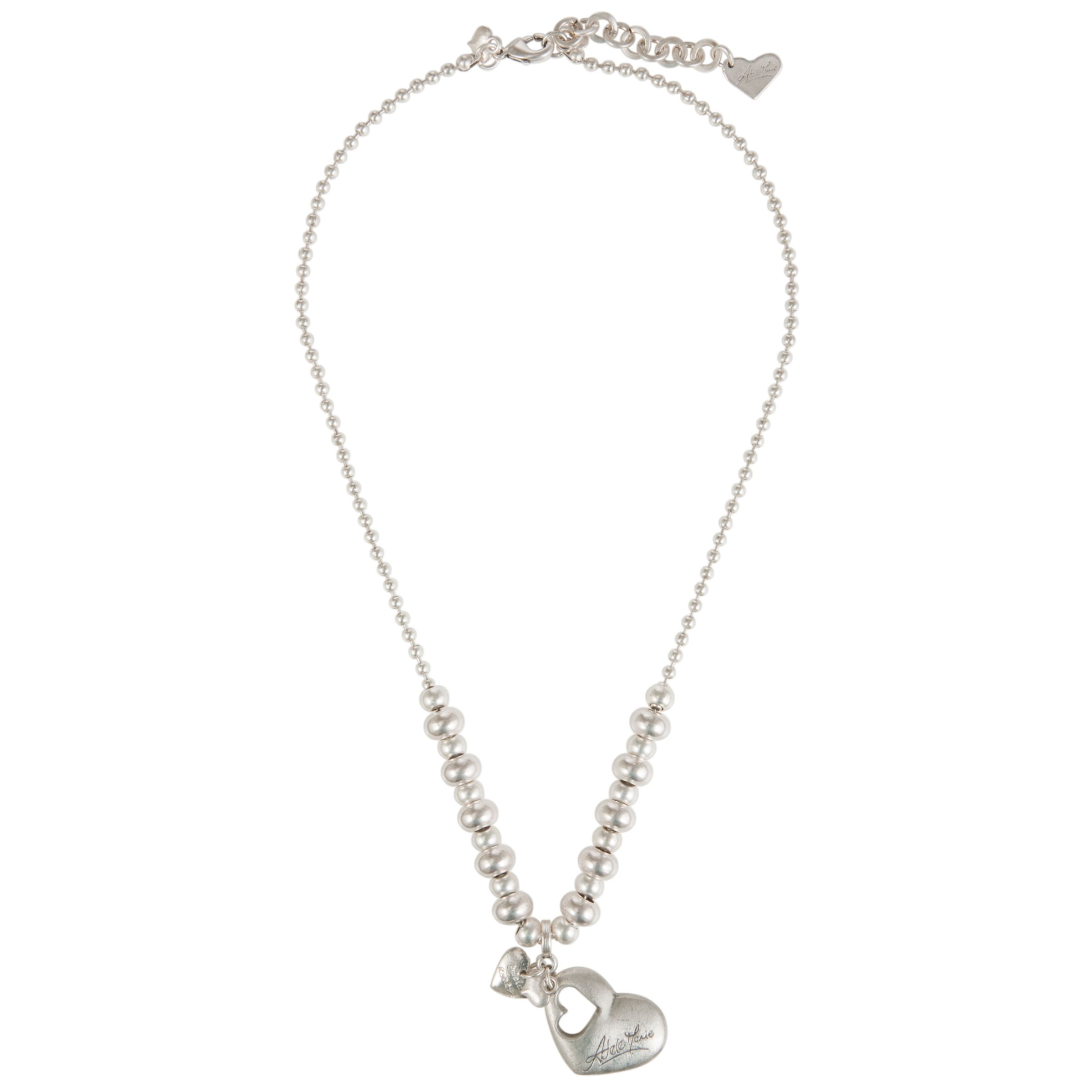 Adele Marie Silver Plated Heart Pendant Necklace