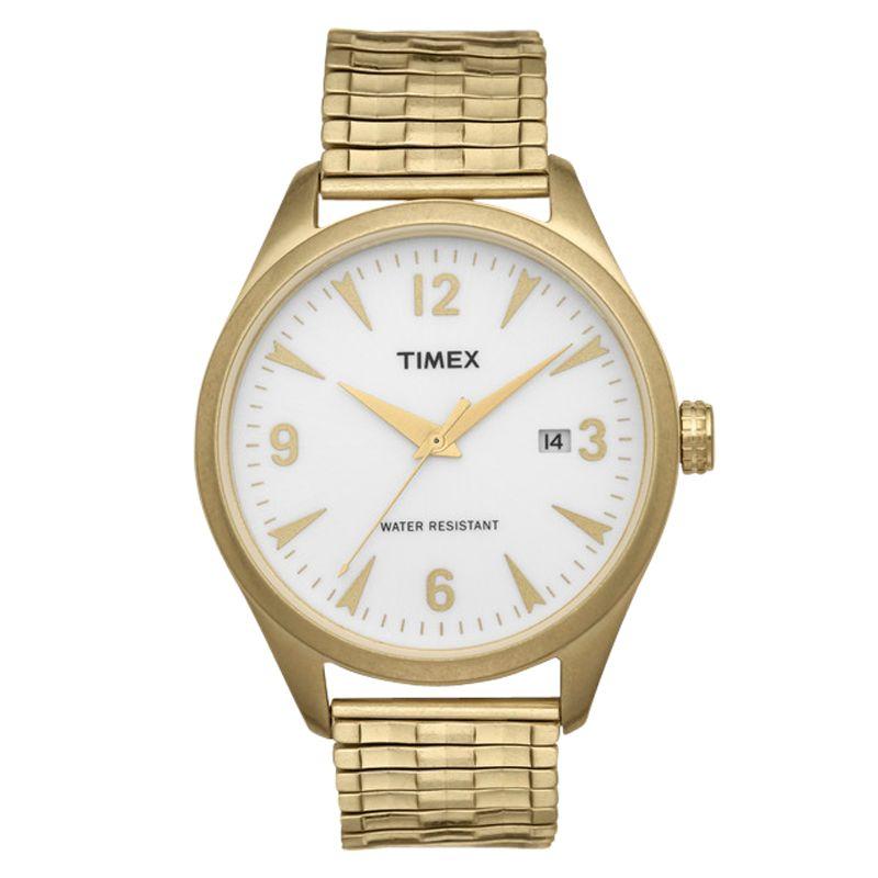 Timex 2n530 Unisex Vintage Expandable Bracelet Watch, Gold